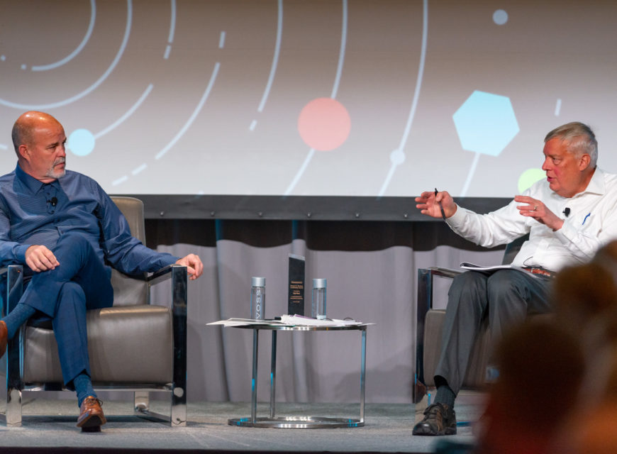 """CU*Answers CEO Randy Karnes and long-time industry icon Chip Filson sit down to discuss the question, """"can we be transformative pioneers for our futures?"""""""